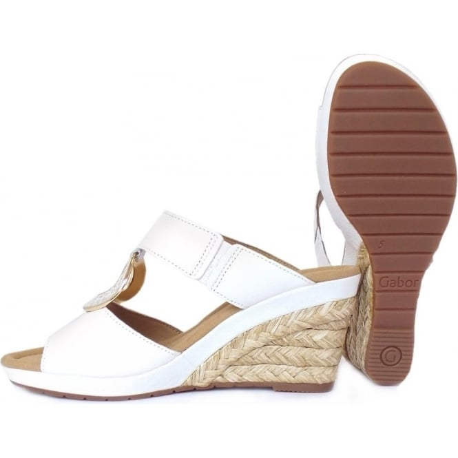 c73077728f46 Sizzle Modern Wide Fit Wedge Sandals in White