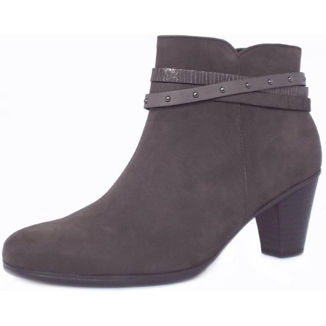 Gabor Solero Women's Fashion Ankle Boots in Anthracite Grey