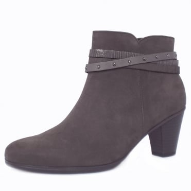 Solero Women's Fashion Ankle Boots in Anthracite Grey