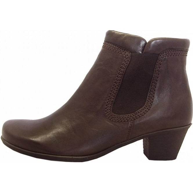 gabor boots sound low heel ankle boot in brown
