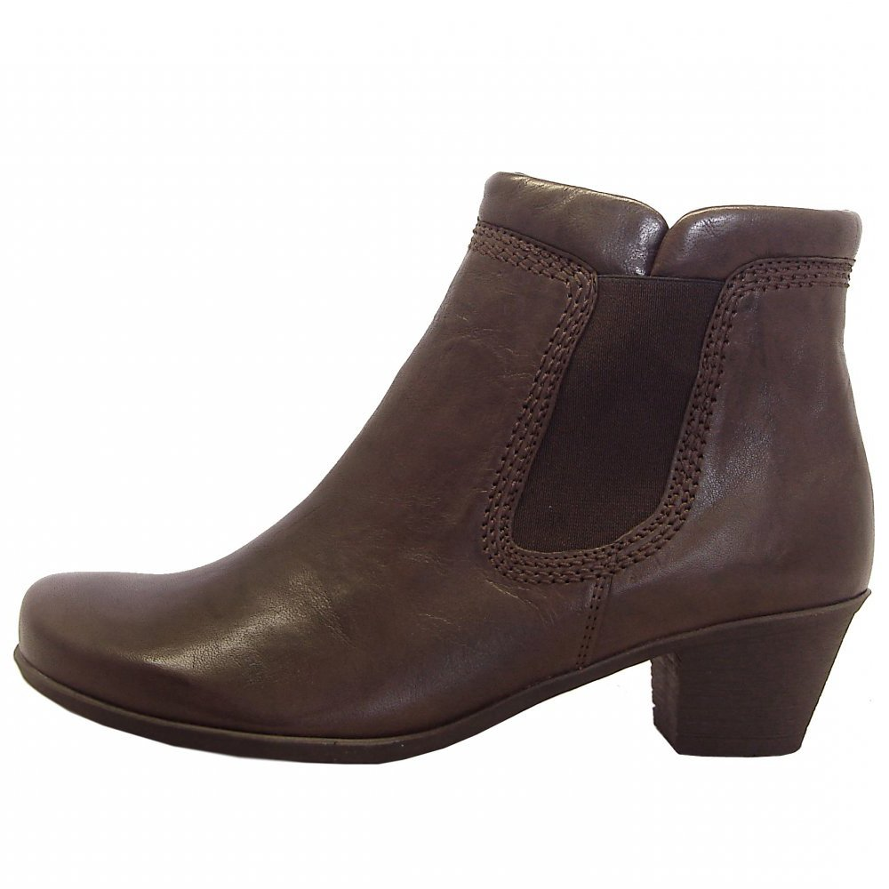 Gabor Boots Sound Ladies Low Heel Ankle Boot In Brown Mozimo