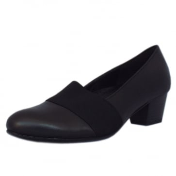 Gabor Sovereign Low Heel Court Shoes in Black