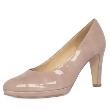 Splendid Women's Modern Mid Heel Court Shoes in Antique Rose Patent