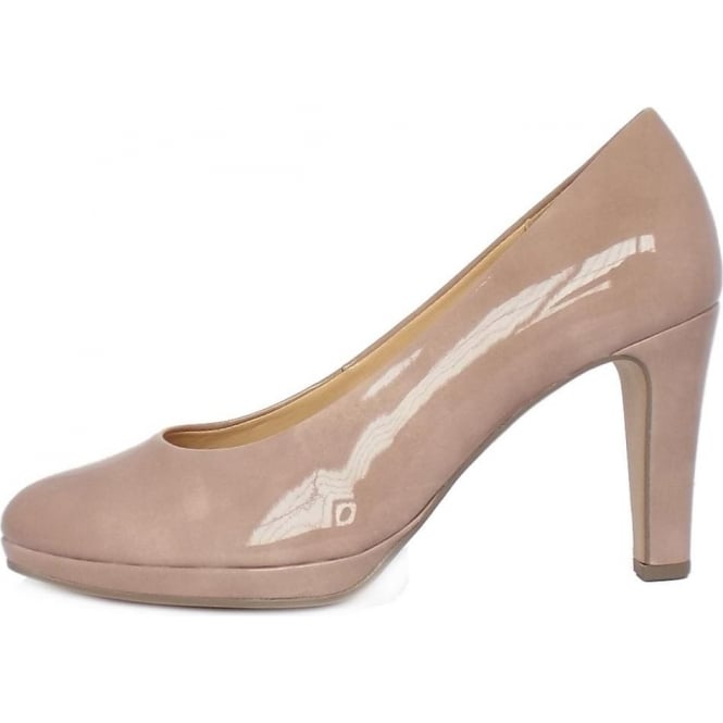 29fa43b65419 Gabor Gabor Splendid Women s Modern Mid Heel Court Shoes in Antique Rose  Patent