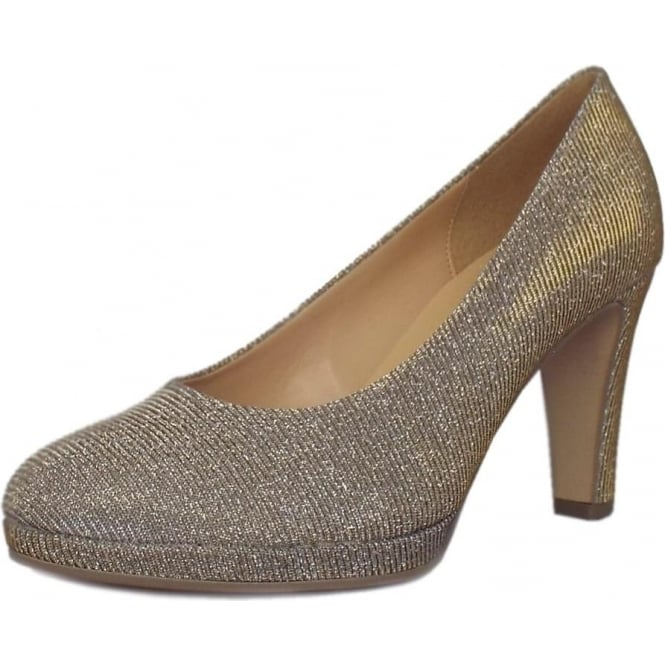 823cd927b3d994 Gabor Shoes | Splendid | Ladies Court Shoe in Platinum | Mozimo