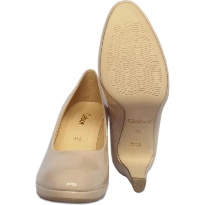 9448277d460 Splendid Women  039 s Modern Mid Heel Court Shoes in Sand Patent