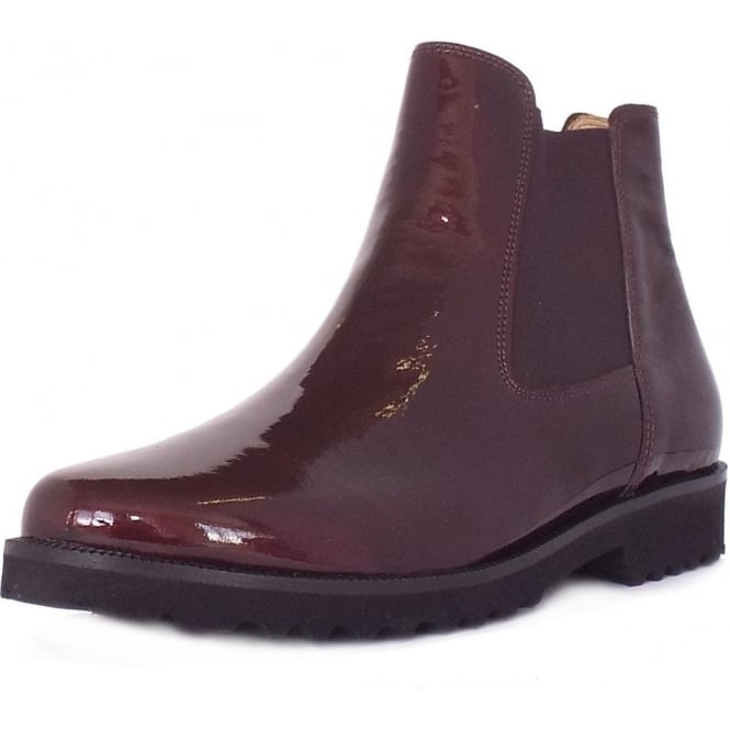 gabor teagan women 39 s modern pull on ankle boot in merlot. Black Bedroom Furniture Sets. Home Design Ideas