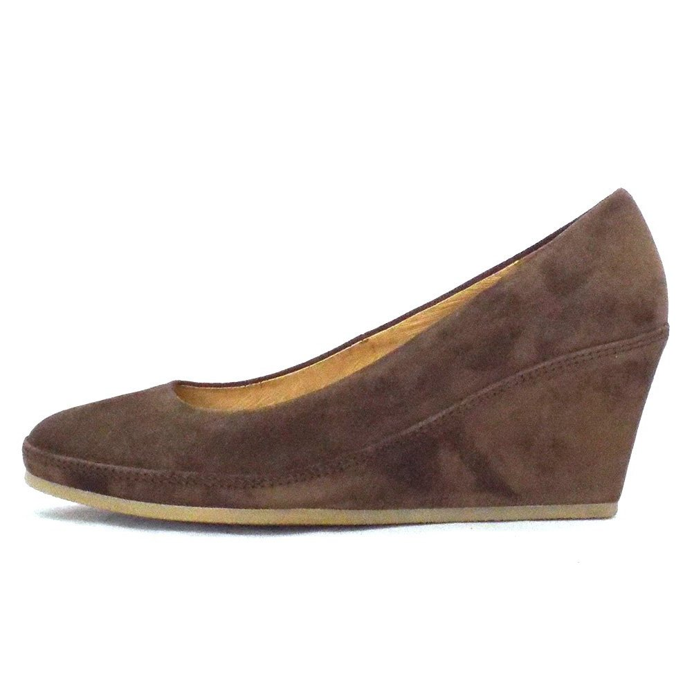 gabor shoes teller wedge shoe in brown suede mozimo
