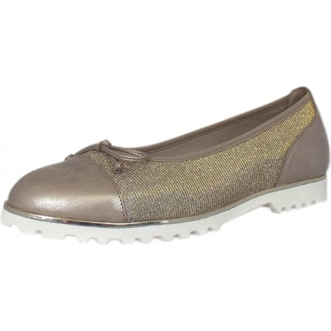 Temptation Ballet Pump in Silver / Gold