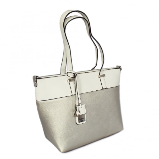 Gabor Tivoli Women's Modern Shoulder Bag in Silver