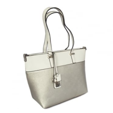 Tivoli Women's Modern Shoulder Bag in Silver