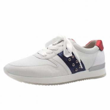 86944f75f4534 Treasure Lace Up Leather Sneakers in White Multi