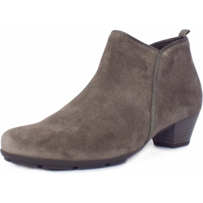 Trudy Ladies Taupe Suede Ankle Boots