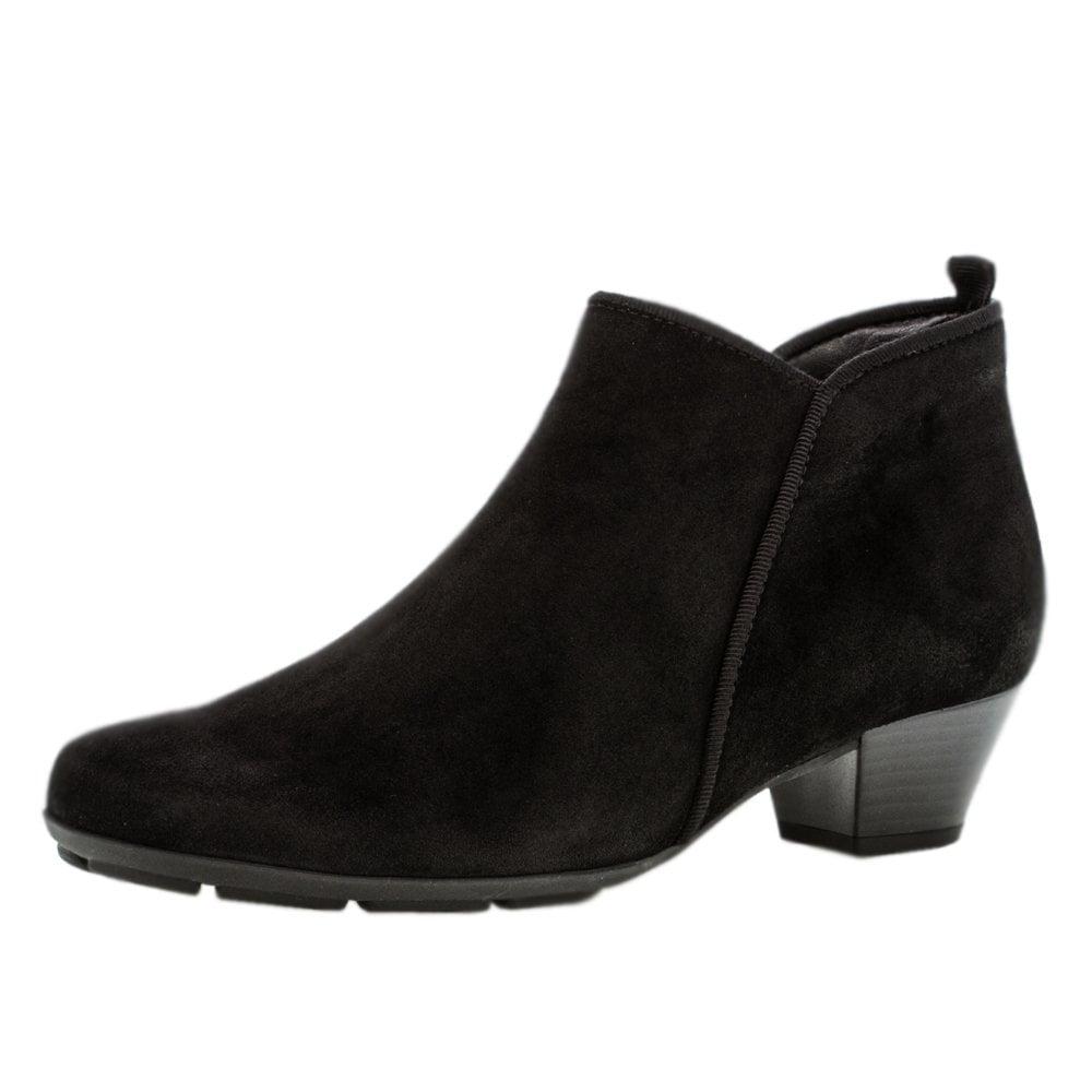 Gabor Trudy | Ladies Black Suede Ankle