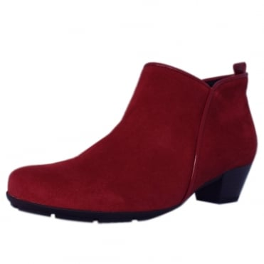 Trudy Modern Ankle Boots in Cherry