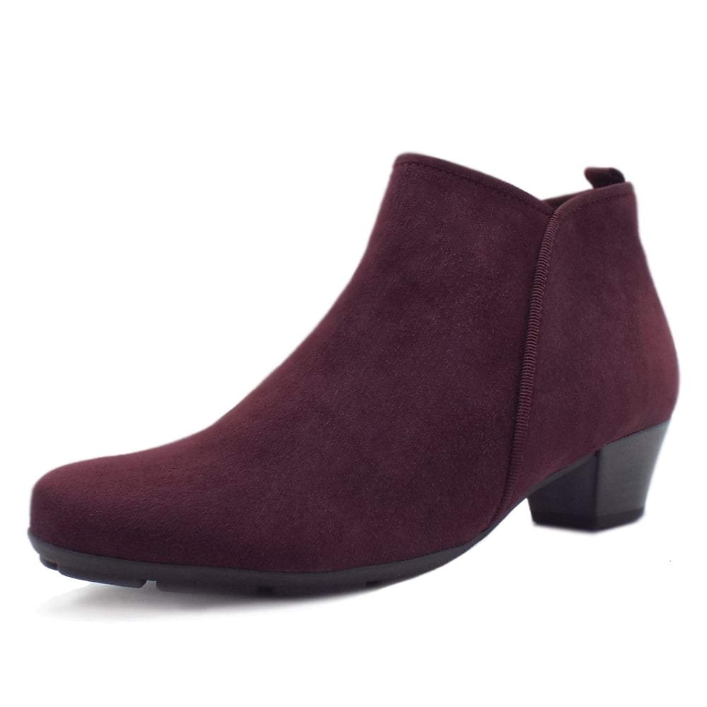 Gabor Trudy Modern Ankle Boots in Merlot