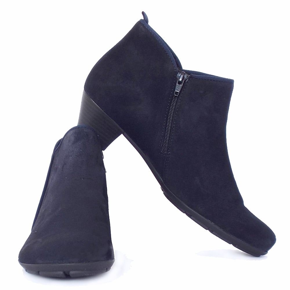 womens navy ankle boots