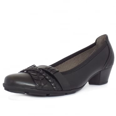 Tyne Women's Smart Casual Low Heel Shoes in Black