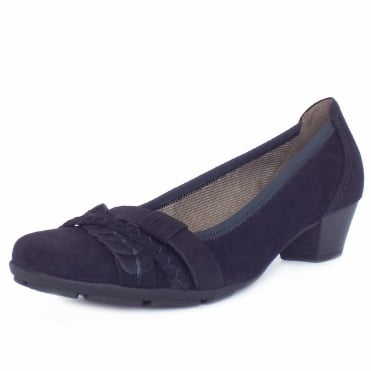 Tyne Women's Smart Casual Low Heel Shoes in Navy