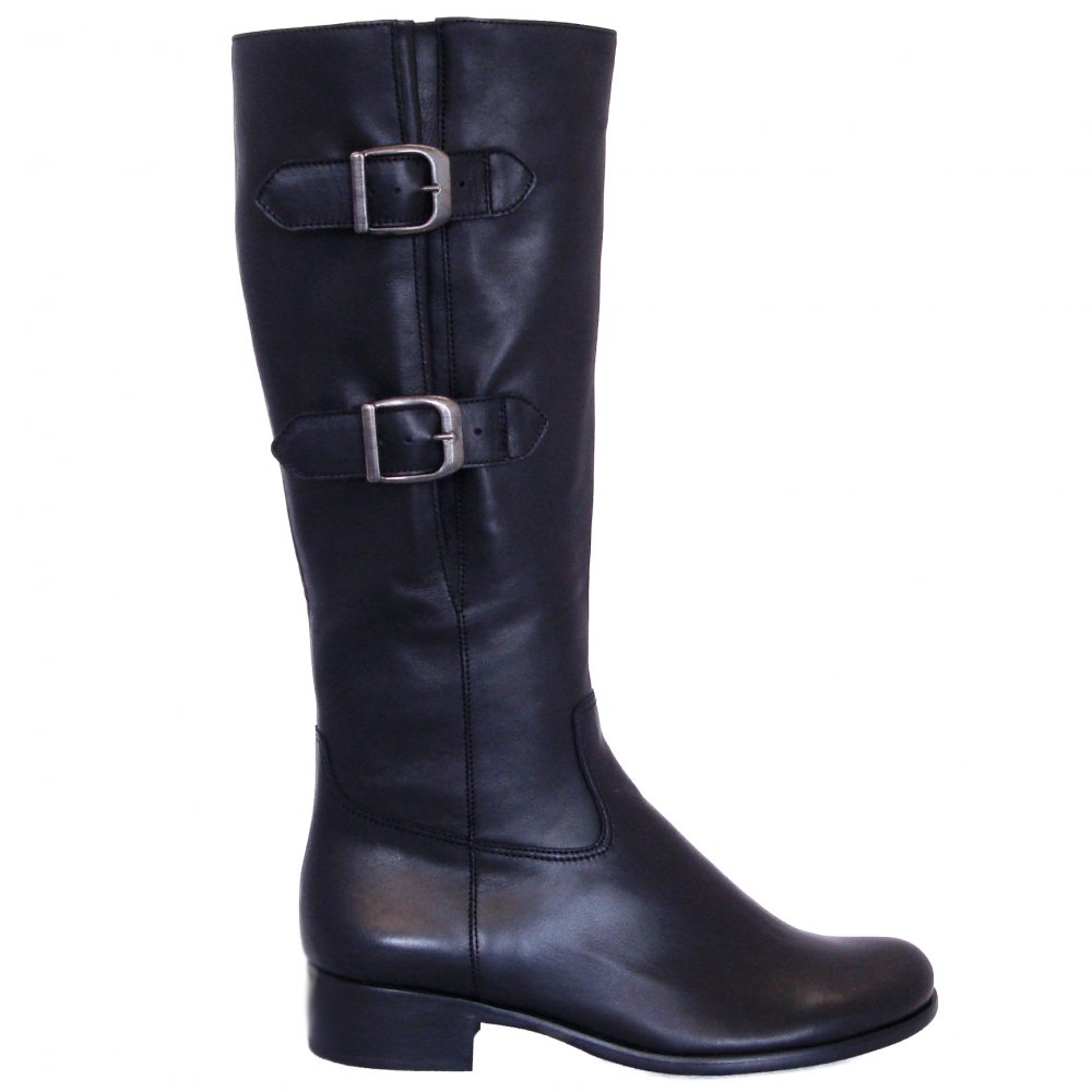 gabor boots verano knee high boots in black mozimo