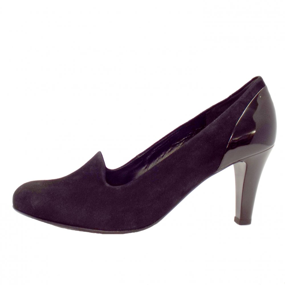 gabor shoes vision womens shoe in black suede