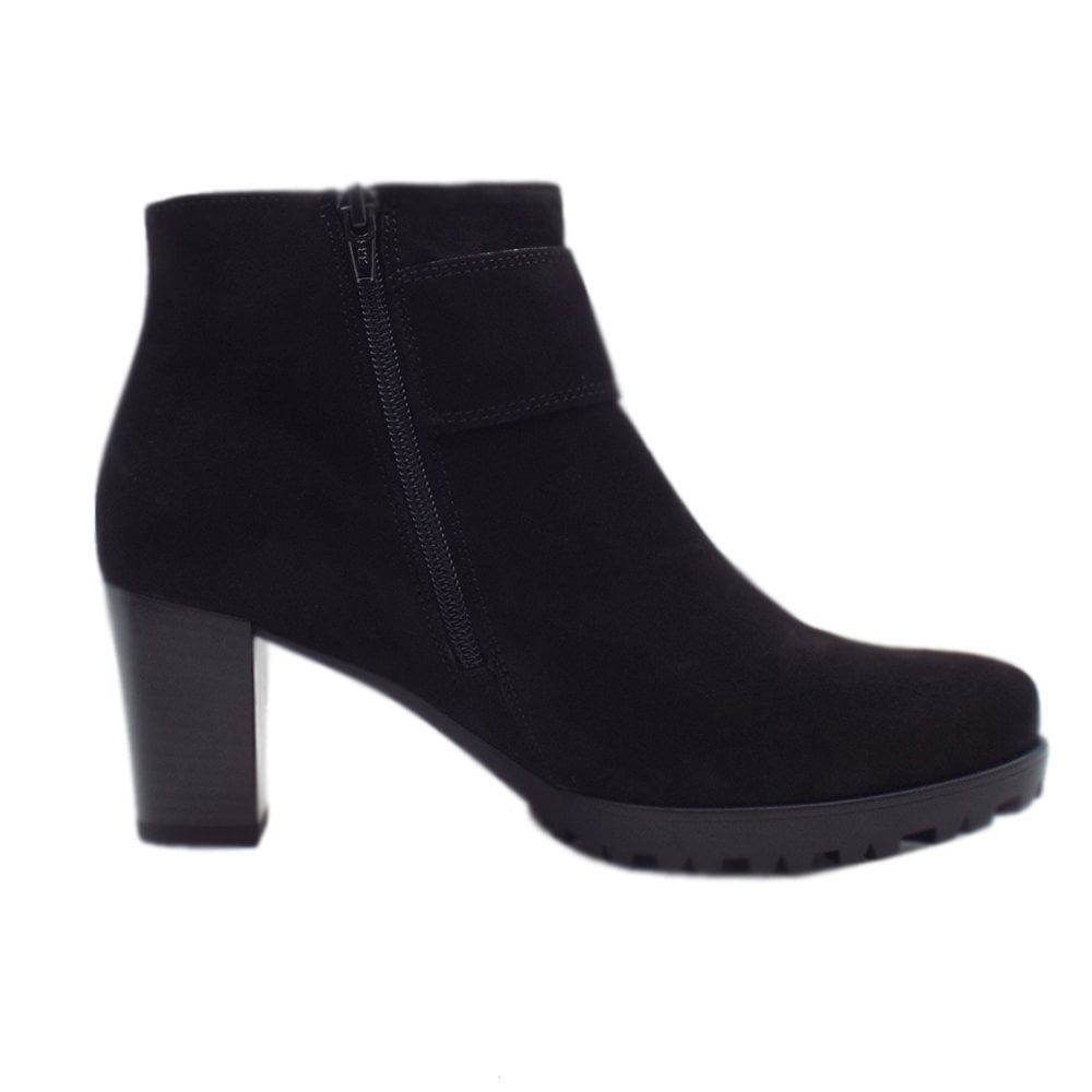 Fashion Ankle Boots in Black Suede