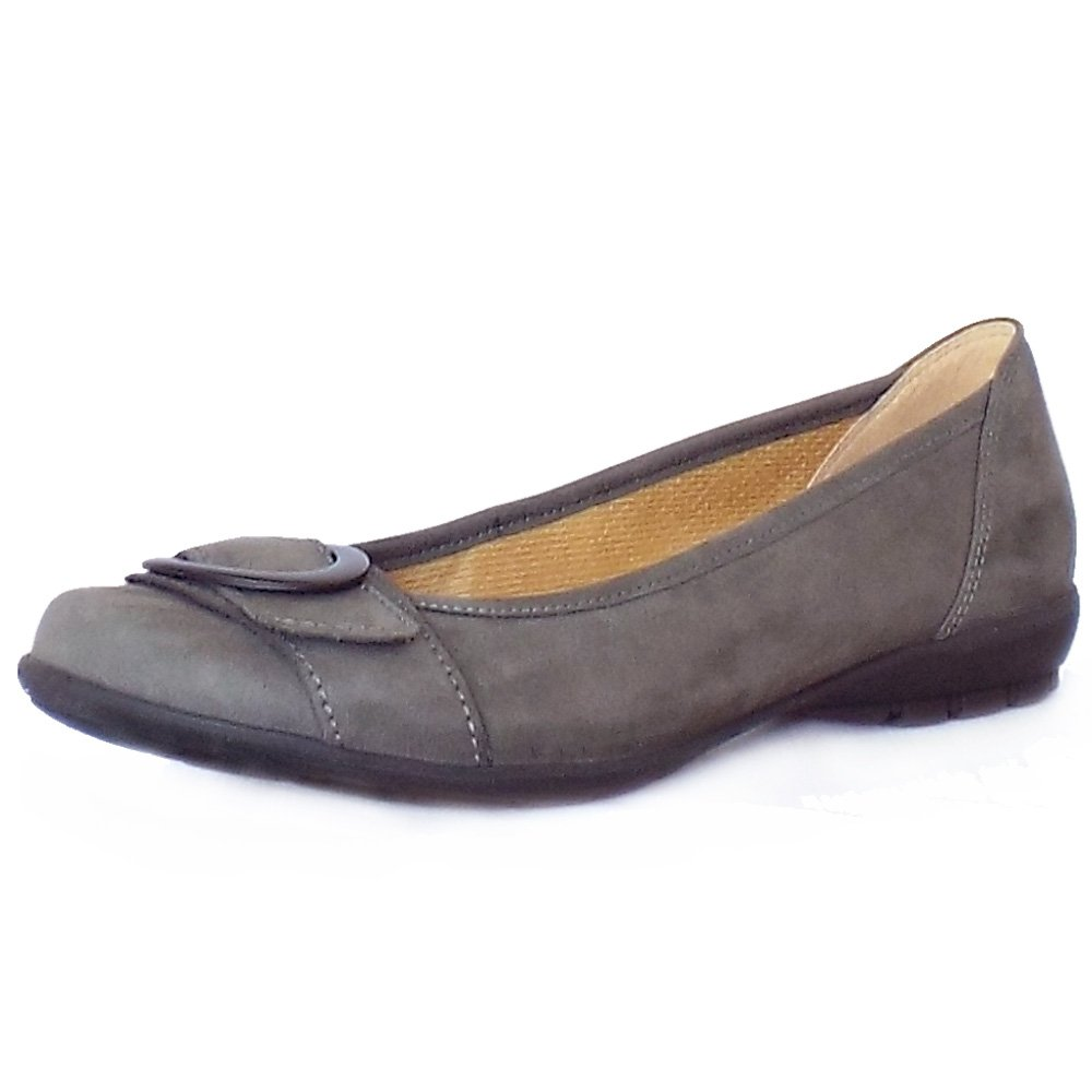 Home : Womens : Garda Comfortable Flat Shoes in Anthracite Nubuck