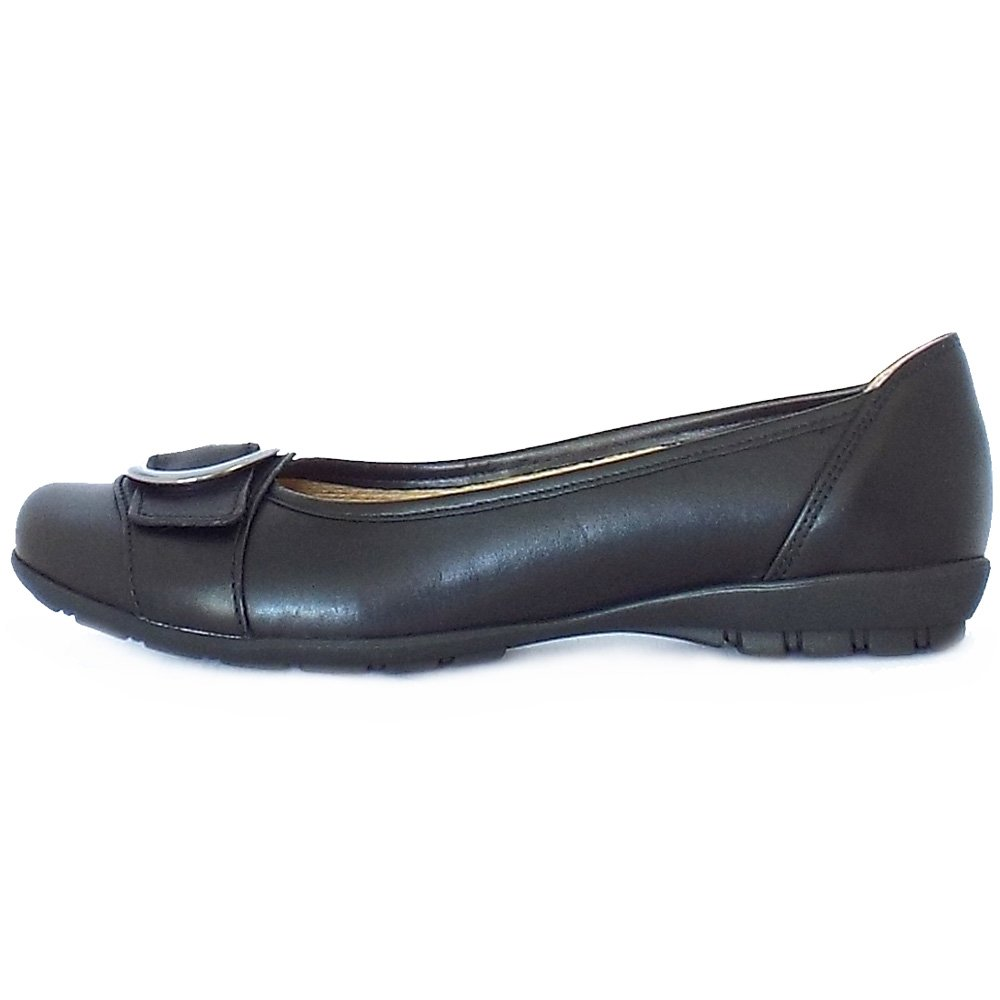 Gabor Garda Sale | Comfortable Flat Shoes In Black Leather ...