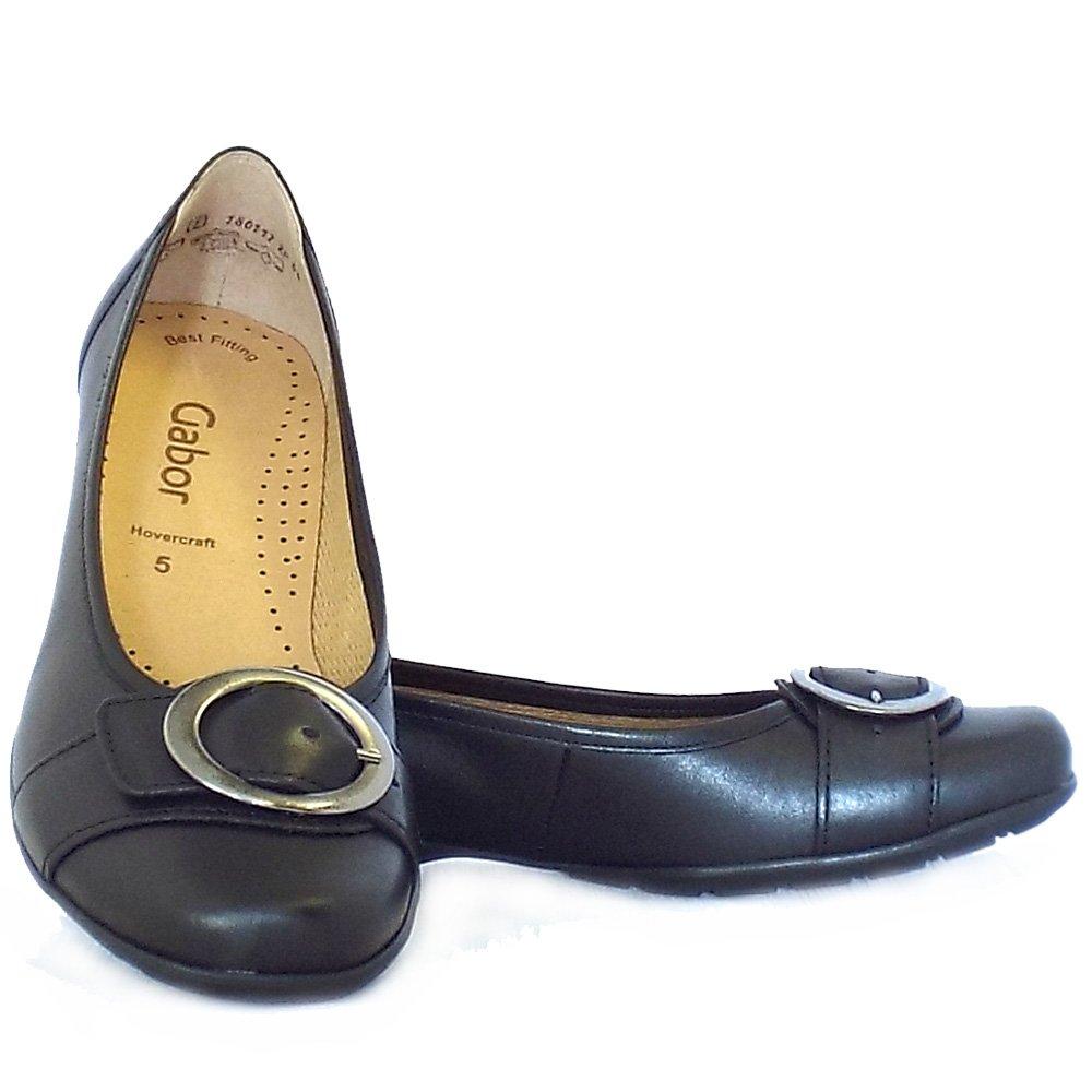 gabor garda sale comfortable flat shoes in black leather