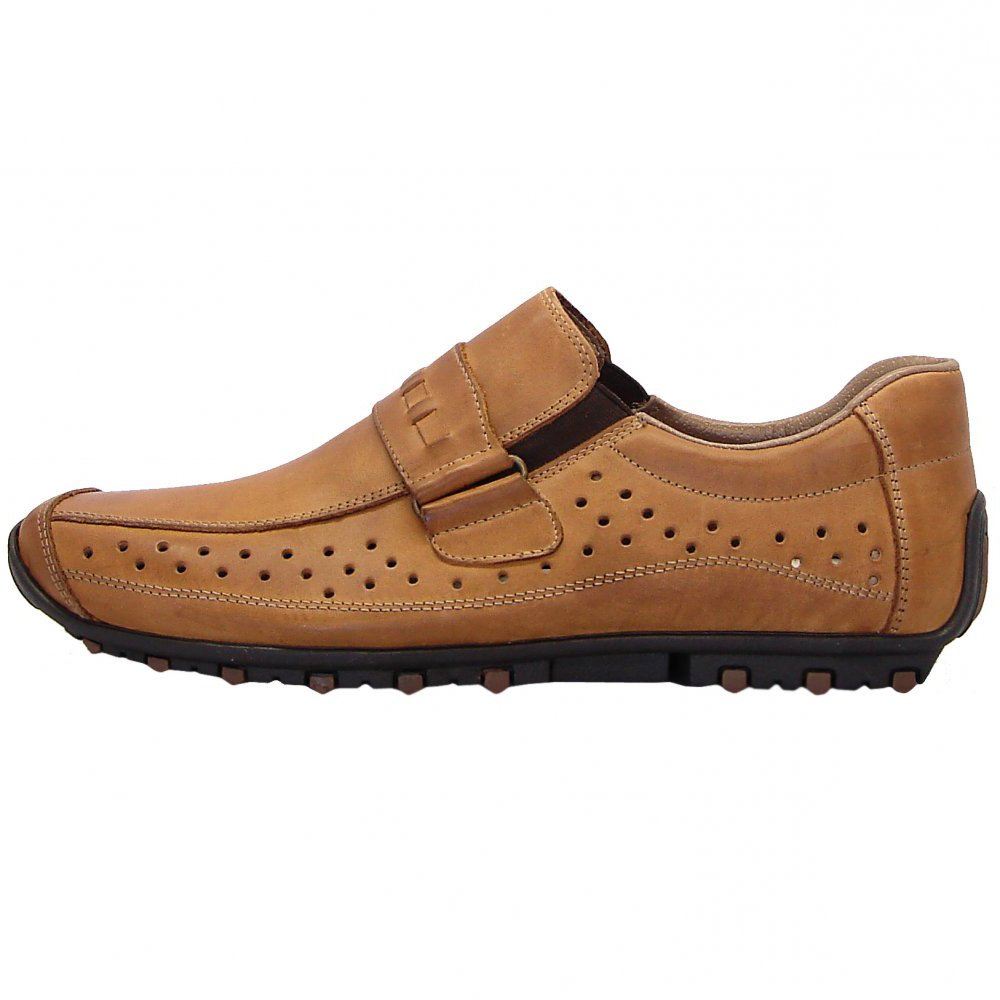 Home : Mens : Garrit mens casual slip on shoes in toffee leather