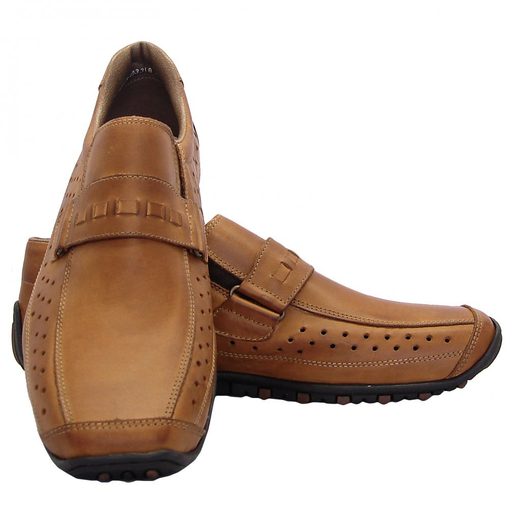Rieker Garrit Mens Casual Slip On Shoes In Brown Leather