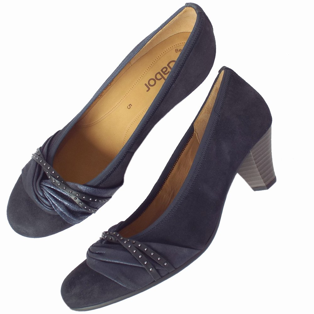 gabor gateway s business casual navy court shoes