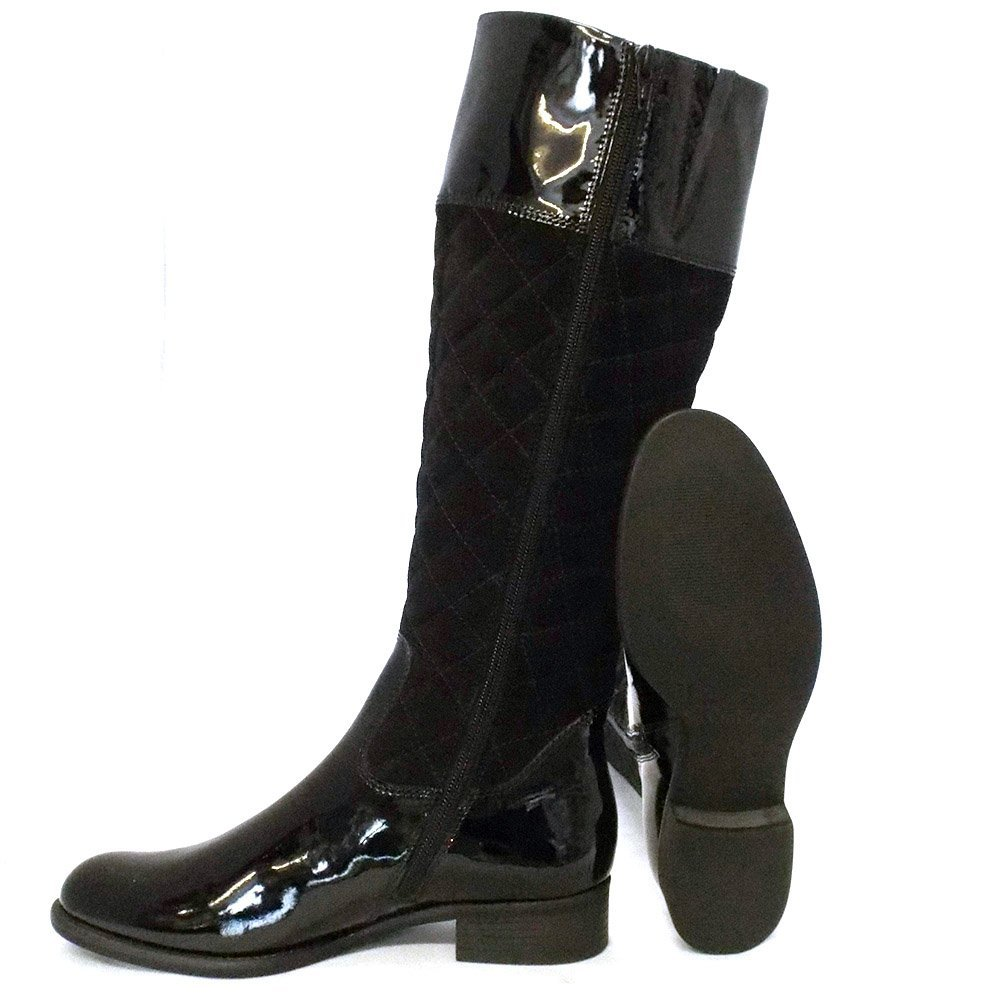 gabor boots gatsby womens boot in black patent mozimo