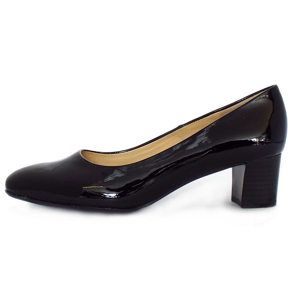 Black Court Shoes Chunky Heel