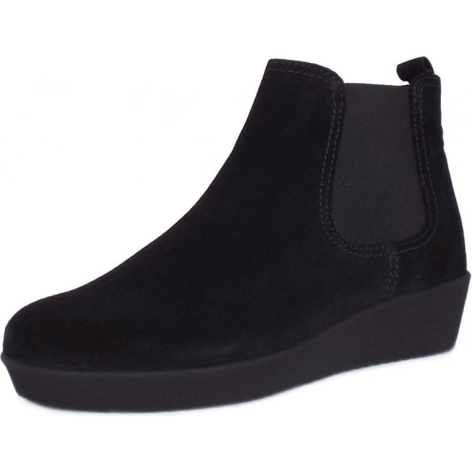 19bdf63b8af8 Ghost Women  039 s Modern Low Wedge Ankle Boots in Black Suede