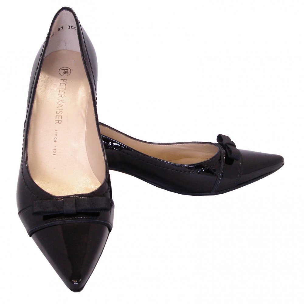Black Kitten Heel Shoes Uk