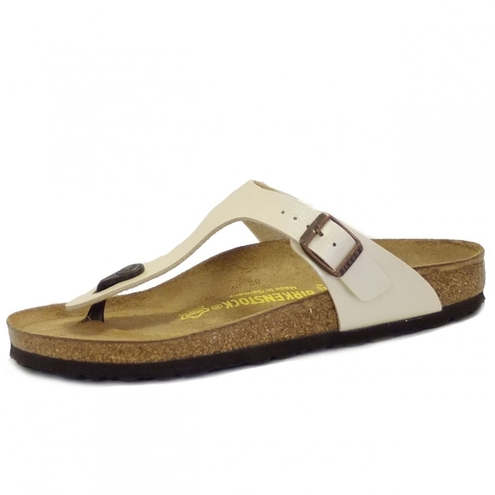 birkenstock pearly white gizeh