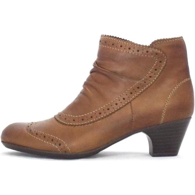bf4a40dd4 Rieker Glenton | Ladies Ankle Boot in Tan Leather | Mozimo Boots
