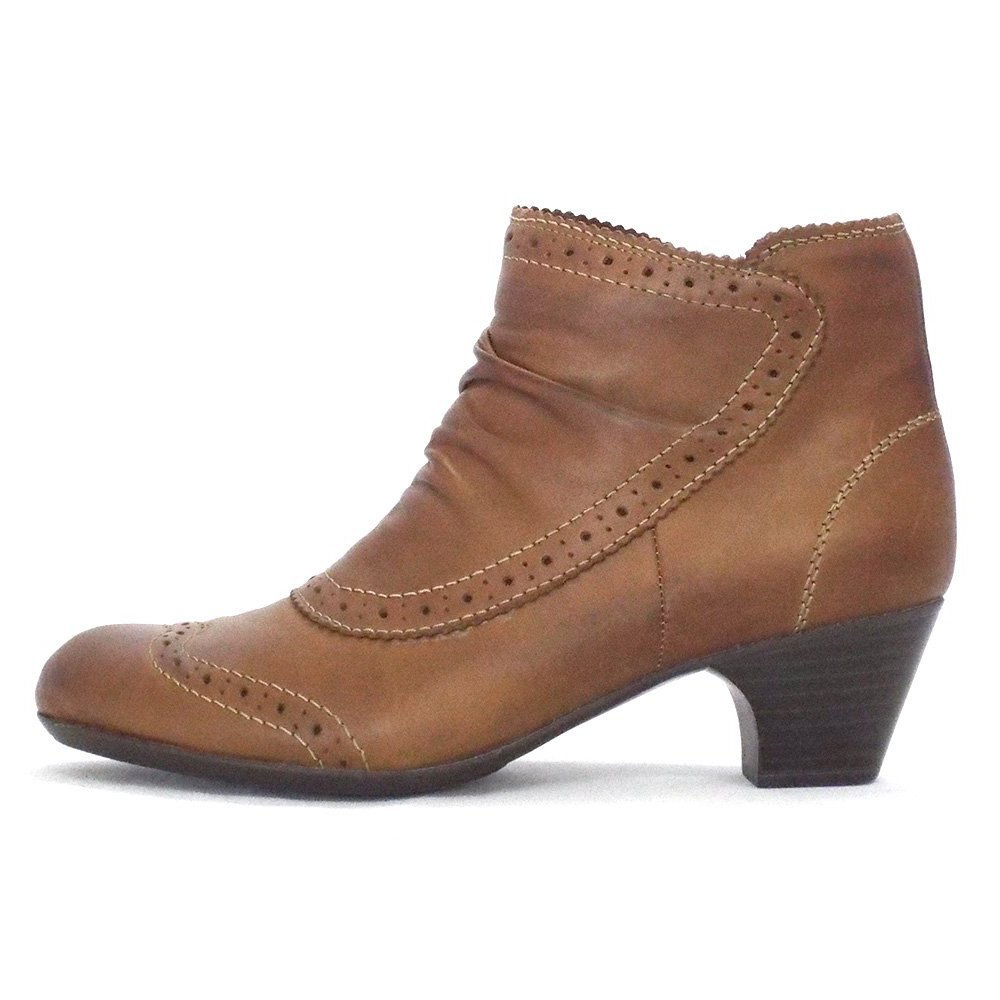 rieker glenton ladies ankle boot in tan leather mozimo boots. Black Bedroom Furniture Sets. Home Design Ideas