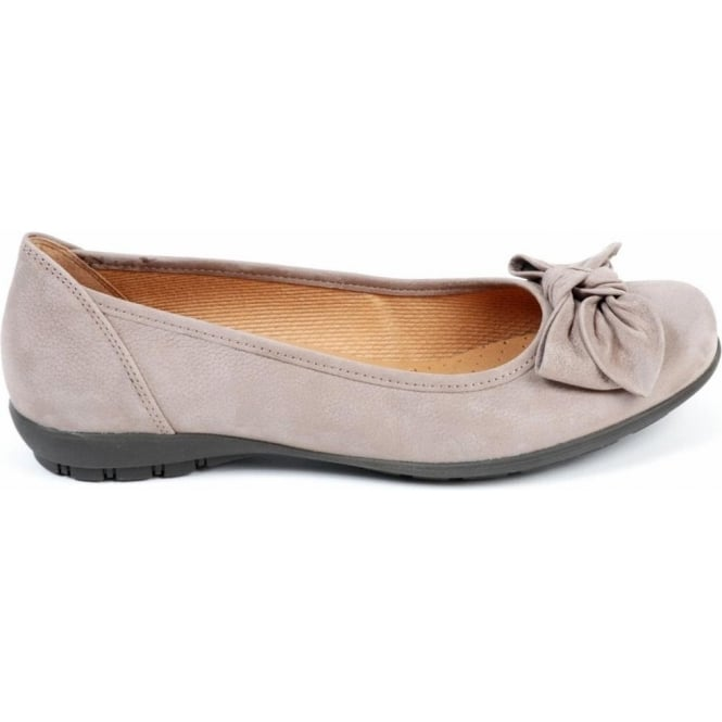 gabor shoes glitz casual ballet shoe in taupe mozimo. Black Bedroom Furniture Sets. Home Design Ideas