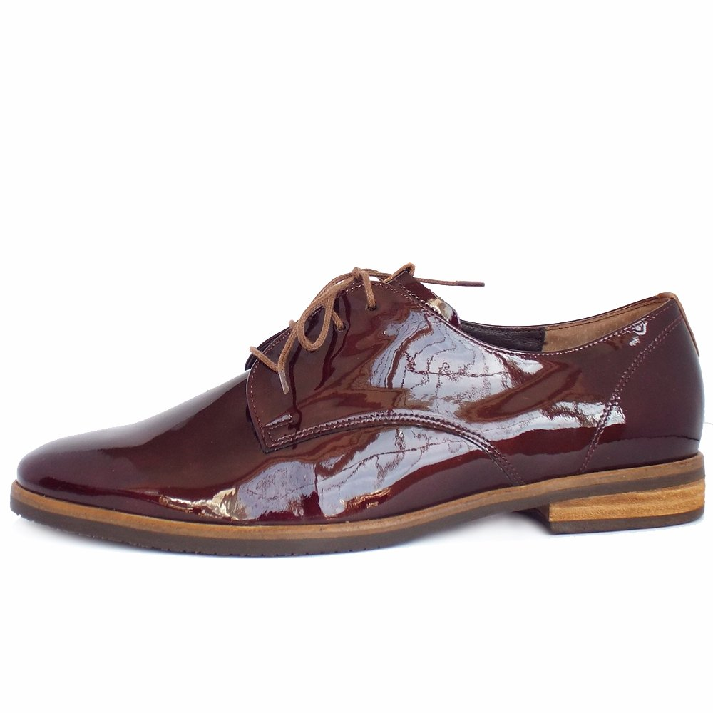 Gabor Metallic Lace Up Shoes