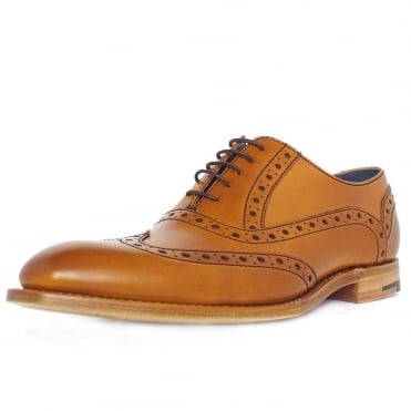 Grant Men's Smart Wingtip Brogue Shoes in Cedar