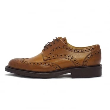 Grassington Lace Up Brogues in Cedar
