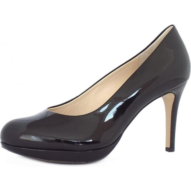Högl 1-12 8004 Alpraham Women's Classic High Heel Court Shoes in Black Patent