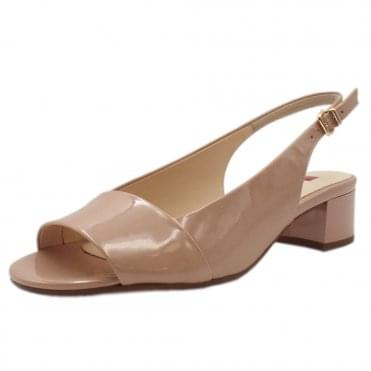 5-10 2104 Kate Patent Leather Sandals in Nude
