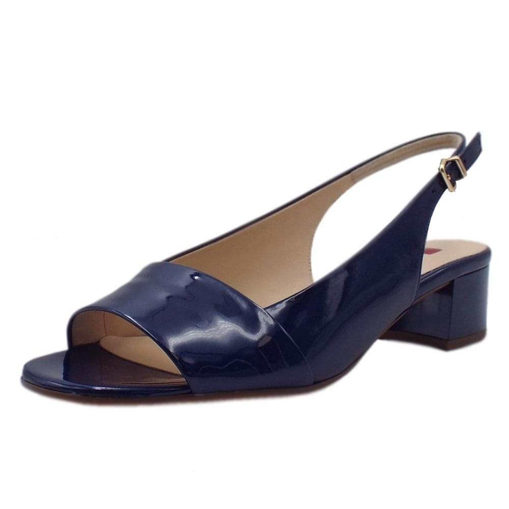 bed3062d8 5-10 2105 Kate Patent Leather Sandals in Navy