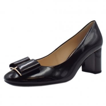 5-10 5084 Rendezvous Block Heel Formal Shoes in Black Patent