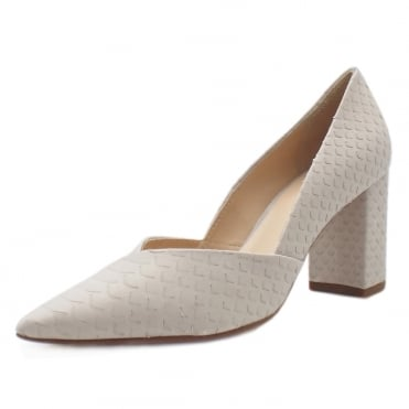 5-10 7507 Tiverton Pointed Toe Court Shoes in Mineral