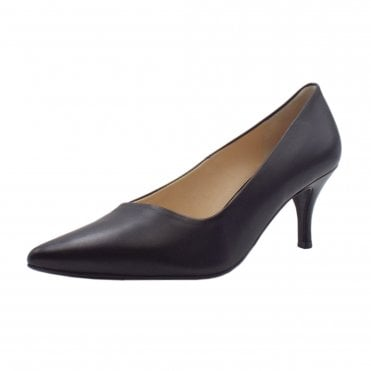 884a75bd9b9 6-10 6143 Queennie Classic Pointed Court Shoe in Black