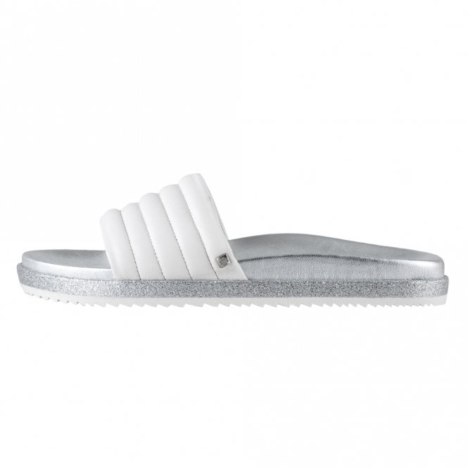 Högl 7-10 0200 Wavy Modern Sporty Mules in White